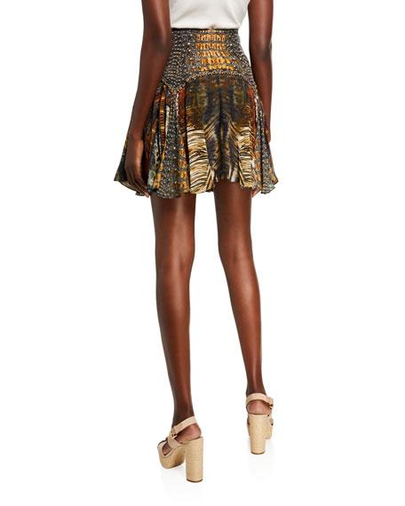 Camilla Patchwork Silk Mini Skirt