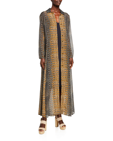 Camilla Animal Patchwork Print Trench Jacket