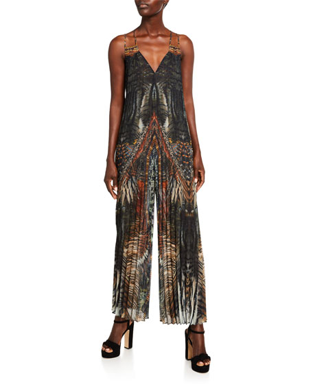 Camilla Pleated Patchwork Jumpsuit