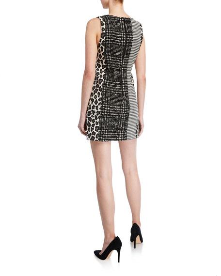 Alice + Olivia Clyde Patchwork A-Line Shift Dress