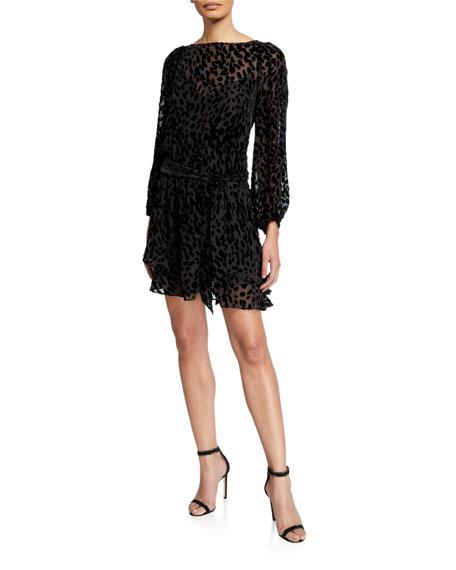 Tanya Taylor Sarina Leopard Burnout Dress