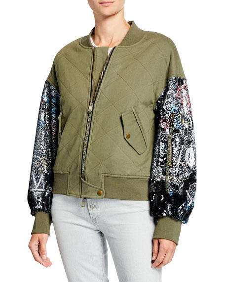 Ramy Brook Mickie Sequined Bomber Jacket