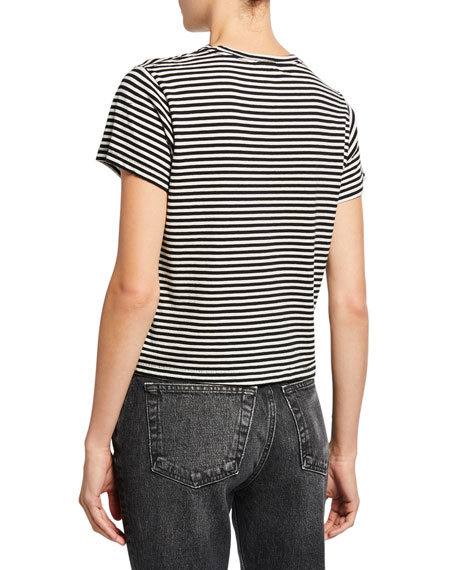 RE/DONE Classic Striped Crewneck Tee