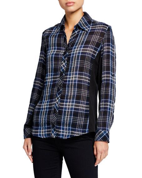 Finley Casey Combo Shimmer Plaid Shirt