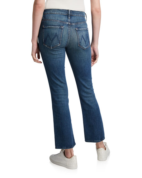 MOTHER The Tripper Cropped Boot-Cut Jeans