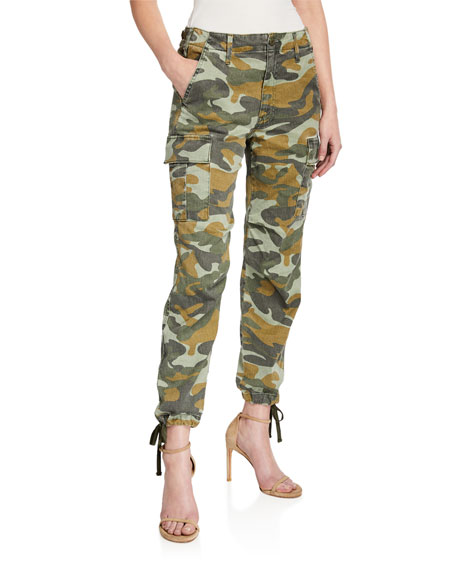 MOTHER The Sir Yes Sir Camo-Print Cargo Pants