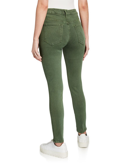 MOTHER High-Waist Looker Ankle Skinny Jeans