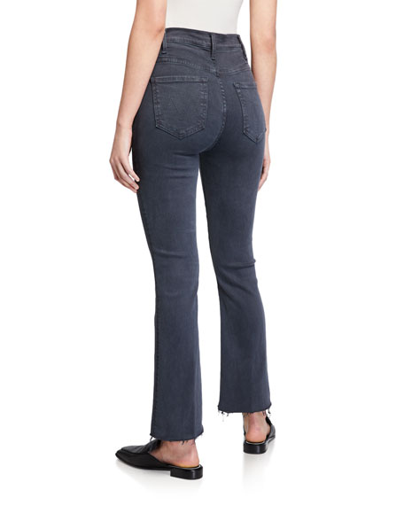 MOTHER The Hustler Ankle Fray Straight-Leg Jeans