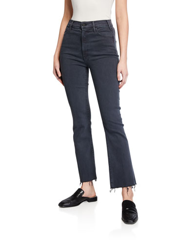 The Hustler Ankle Fray Straight-Leg Jeans