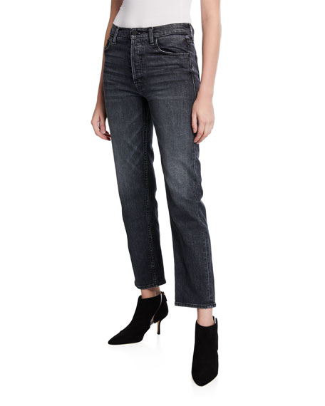 MOTHER The Tomcat Ankle Straight-Leg Jeans