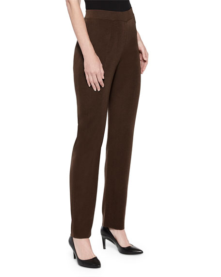 Misook Plus Size Straight-Leg Pull-On Pants