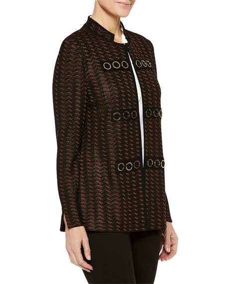 Misook Plus Size Golden Grommet Detail Jacket