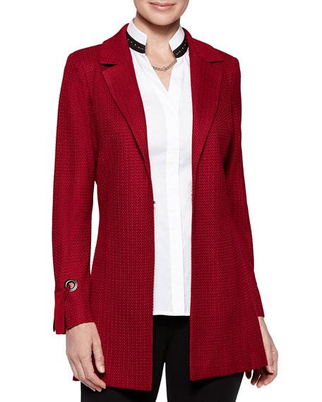 Misook Grommet Tie-Cuff Jacket