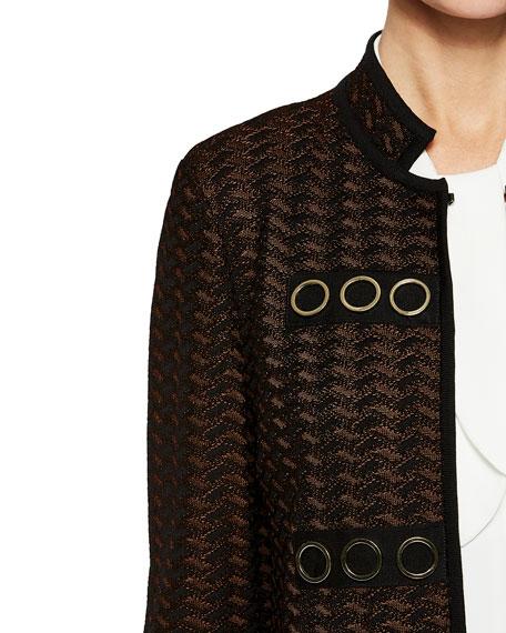 Misook Grommet-Detail Jacket
