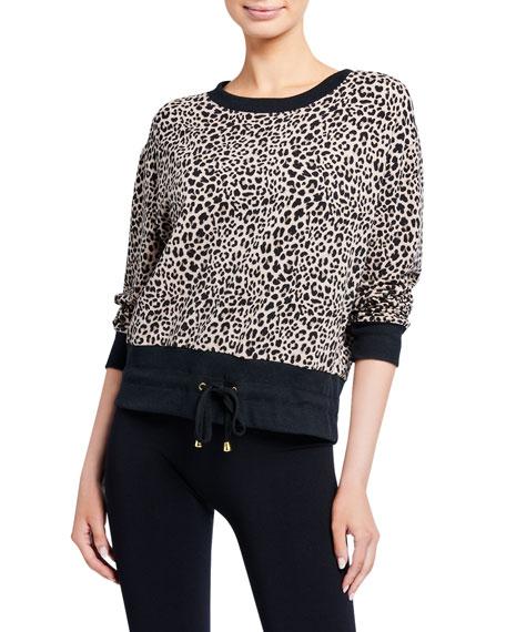 Varley Arden Leopard Drawstring Sweatshirt Neiman Marcus