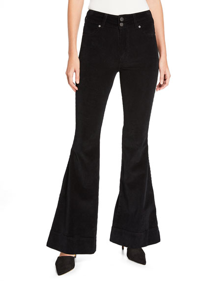 ALICE + OLIVIA JEANS Beautiful Double-Waistband Corduroy Bell Jeans