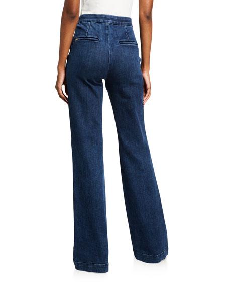 ALICE + OLIVIA JEANS Jalisa High-Rise Trouser Pants