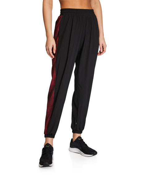Terez Side-Printed Wind Jogger Pants