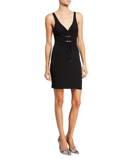 alexanderwang.t Ruched Crepe Jersey Short Dress