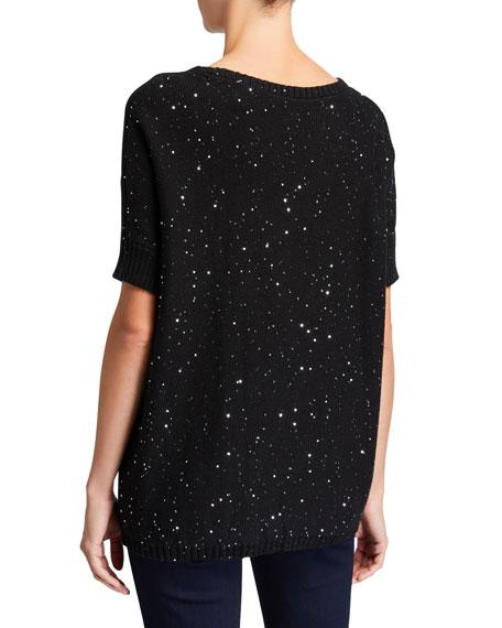 Joan Vass Sparkle Boxy Sweater