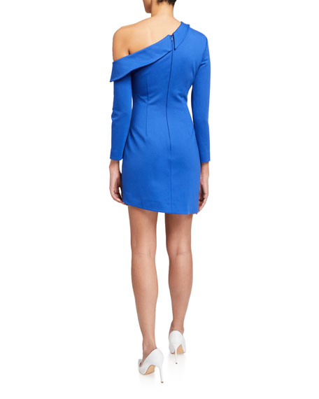 Elliatt Santino One-Shoulder Asymmetric Short Dress