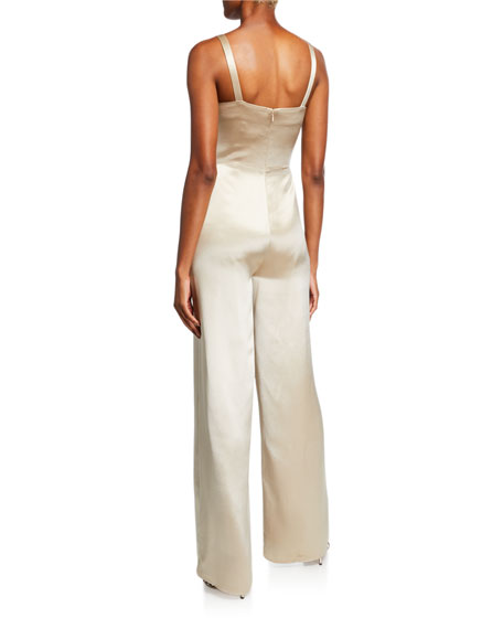 Mestiza New York Liza Sleeveless Wide-Leg Satin Jumpsuit