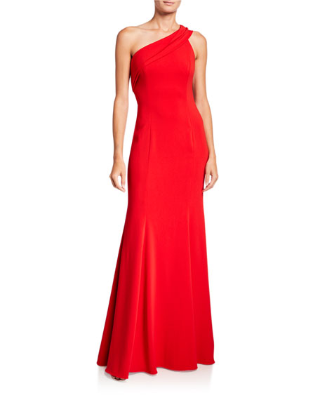 Image 1 of 2: Jay Godfrey Stone One-Shoulder Column Gown
