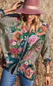 Johnny Was Jenna Floral Button-Front Silk Blouse
