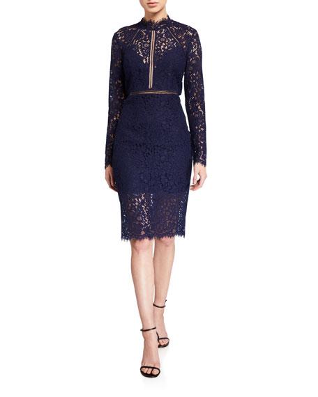 Bardot Rozie Lace Cocktail Dress