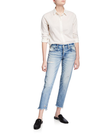 MOUSSY VINTAGE Kelley Tapered Distressed Jeans