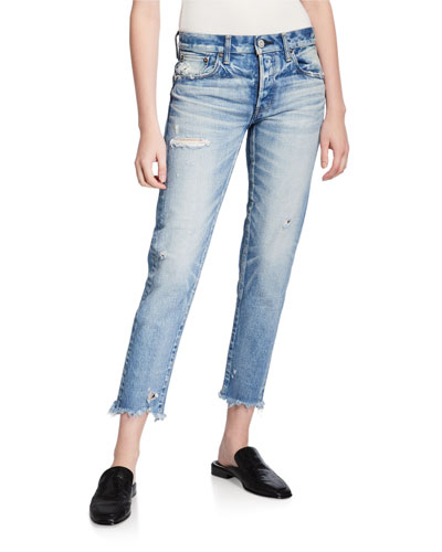 Kelley Tapered Distressed Jeans