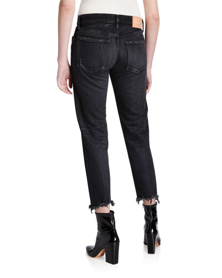 Image 2 of 3: MOUSSY VINTAGE Staley Tapered Ankle Jeans with Shredded Hem