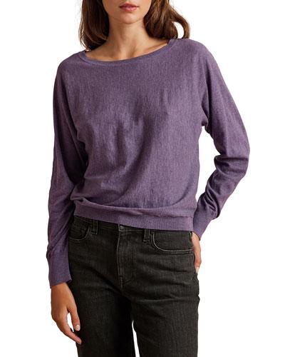 Loren Boat-Neck Cotton Sweatshirt