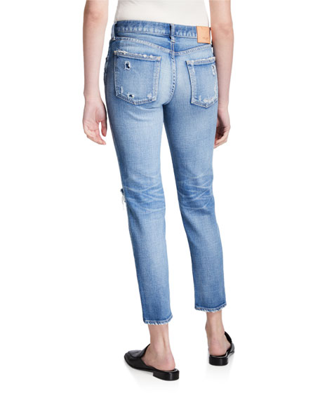 Image 2 of 3: MOUSSY VINTAGE Helendale Distressed Light-Wash Skinny Jeans
