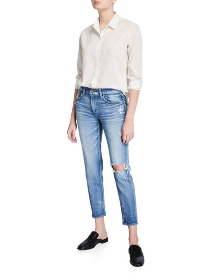 Image 3 of 3: MOUSSY VINTAGE Helendale Distressed Light-Wash Skinny Jeans