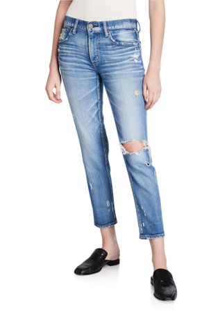 MOUSSY VINTAGE Helendale Distressed Light-Wash Skinny Jeans