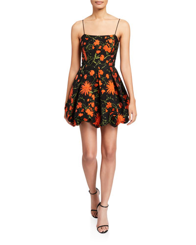 Maureen Floral Sleeveless Balloon Skirt Fit-&-Flare Dress