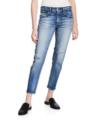 Lancaster Distressed Skinny Jeans
