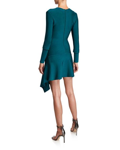 Misha Donna Asymmetric Long-Sleeve Knit Dress