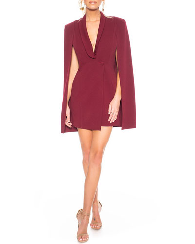 Boss Lady Mini Cape Dress