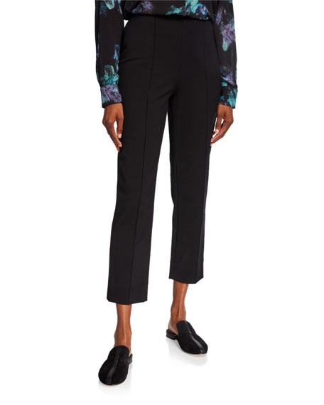 Vince Pintuck Stovepipe Cropped Pants
