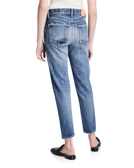 Image 2 of 3: MOUSSY VINTAGE Moskee Dark-Wash Tapered Jeans