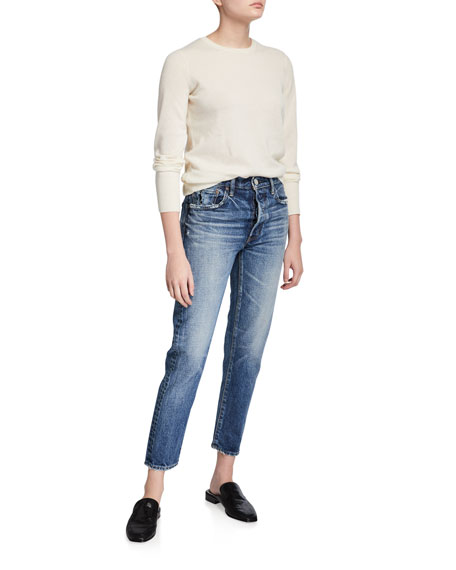 Image 3 of 3: MOUSSY VINTAGE Moskee Dark-Wash Tapered Jeans