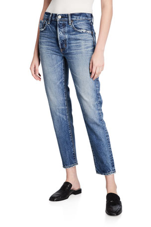 MOUSSY VINTAGE Moskee Dark-Wash Tapered Jeans