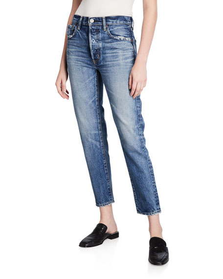 Image 1 of 3: MOUSSY VINTAGE Moskee Dark-Wash Tapered Jeans