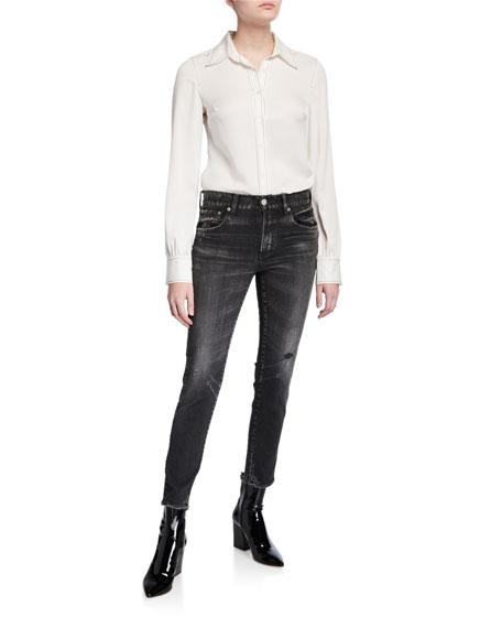 MOUSSY VINTAGE Velma Black-Wash Skinny Jeans
