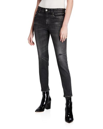 Velma Black-Wash Skinny Jeans