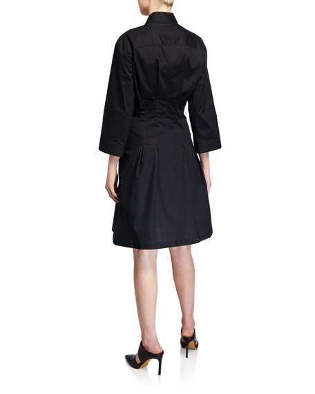 Finley Rocky Tie-Front A-Line Shirtdress