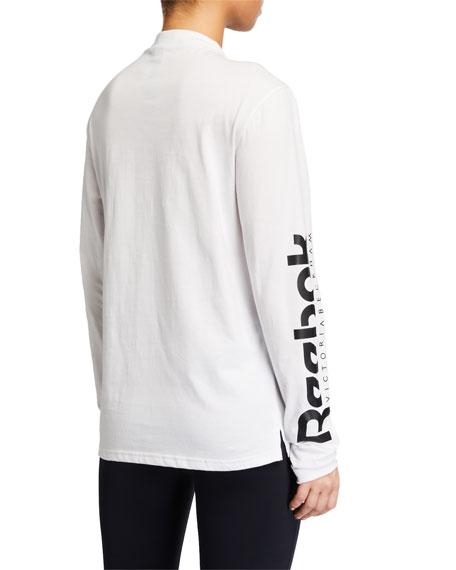 Reebok by Victoria Beckham Long-Sleeve Logo Tee