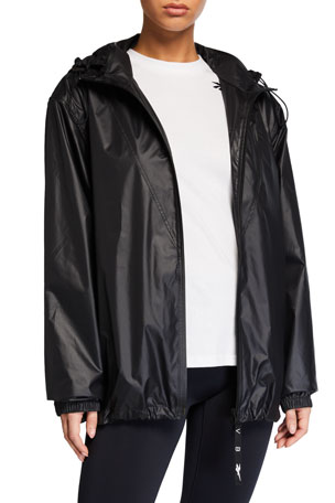 Reebok by Victoria Beckham Hooded Wind-Resistant Active Jacket